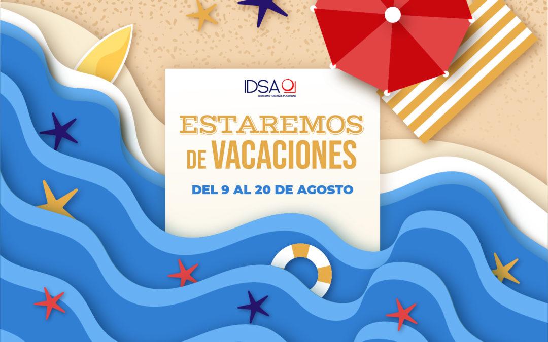 Nos vamos de Vacaciones del 9 al 20 de Agosto